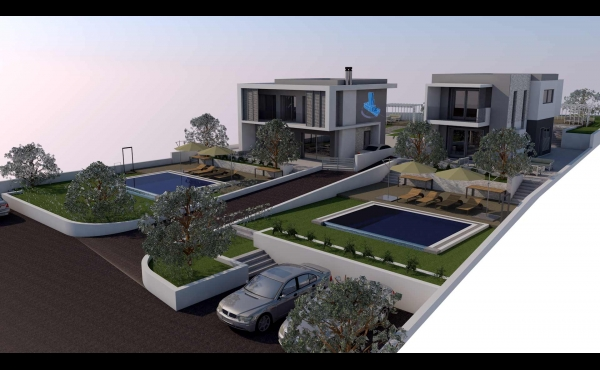 Country Homes with a surface area of 135 m2 at Lachania Beach